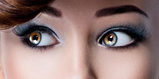 Close-Up strahlende Augen